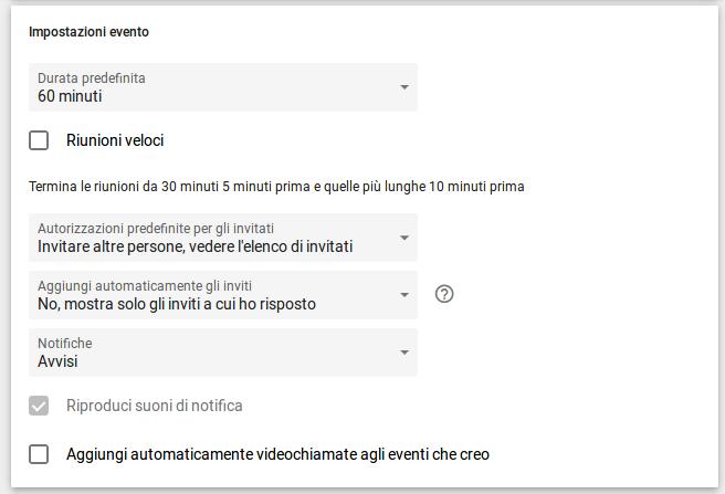 Impostazione di Google Calendar per bloccare l'aggiunta automatica degli inviti